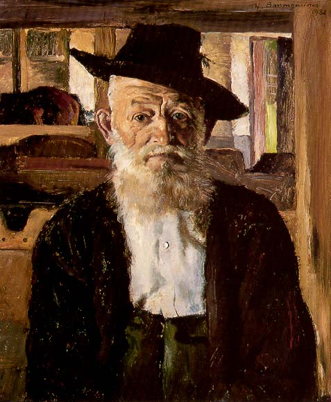 Baumgartner's neighbor in Kreuth, farmer Lorenz Hagen, who was 99 years and 9 months old when painted.
