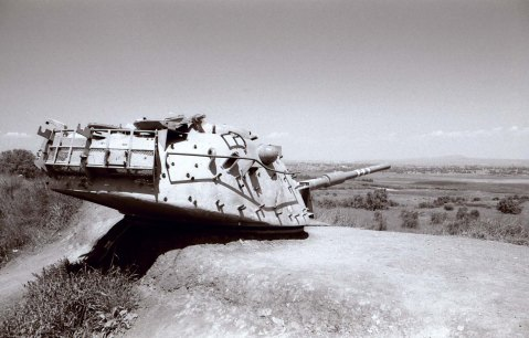 M48 on Golan Wall