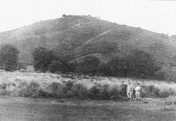 Two Marines with Coyotepe Hill in the background, 1912