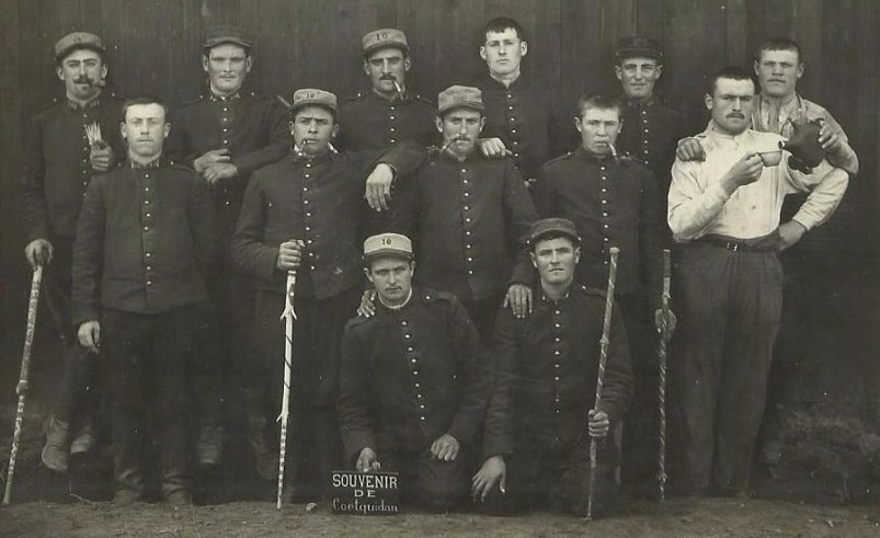 cannes de poilus 1915