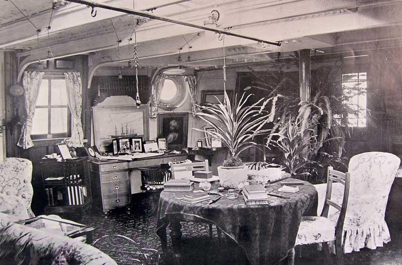 The Captain's cabin was ornate