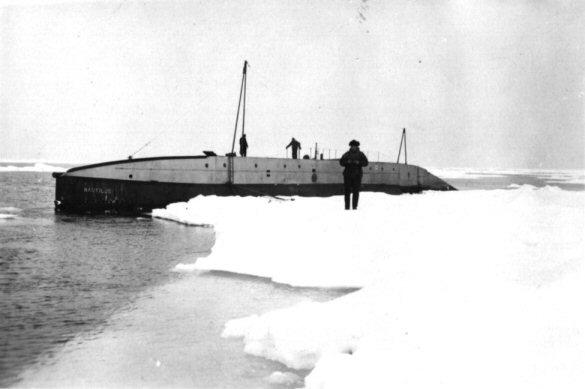 The Nautilus in the Arctic, 1931.
