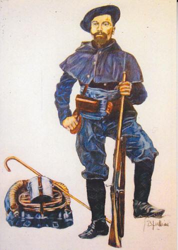 Carte Postale DESSIN JULLIAN - CHASSEUR ALPIN
