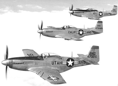 F-51D Mustangs of the Utah, California, and Nevada ANGs in 1948-- all part of the 144th FG