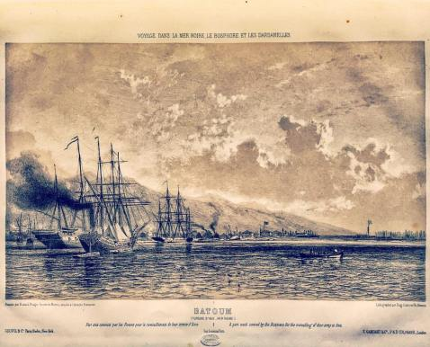 French marine painter Jean-Baptiste Henri Durand-Brager russian fleet batumi batoum crimean war