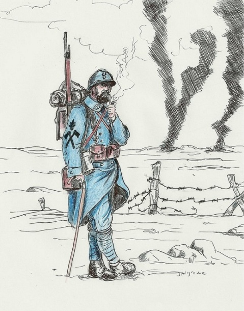 French Poilu 1918 by Stcyr74 Via Deviant Art
