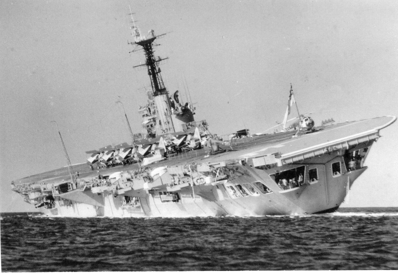 HMAS Melbourne conducting damage control drills off Thistle Island, Spencer Gulf, SA, 3 March 1960