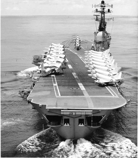HMAS Melbourne on RIMPAC '73-- look at those Skyhawks!