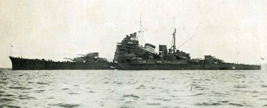IJN heavy cruiser Takao as published in The Air and Sea Co. - The Air and Sea, vol.2, no.6 1933