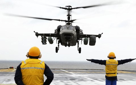 The Ka-52K Katran will see its first seaborne combat in Syria this fall.