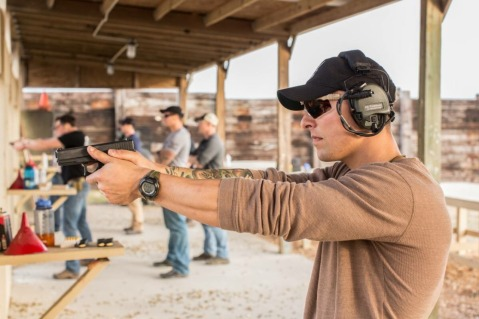 Marine Raiders conducting vehicle and weapons training glock 19