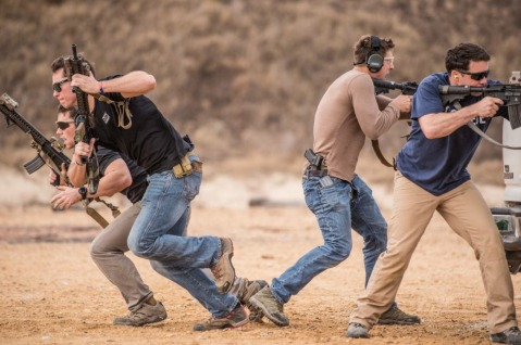 Marine Raiders conducting vehicle and weapons training GLOCKS mk 18 ar