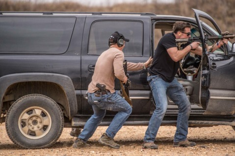 Marine Raiders conducting vehicle and weapons training glocks mk 18