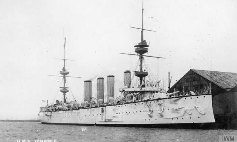Protected cruiser HMS Terrible.