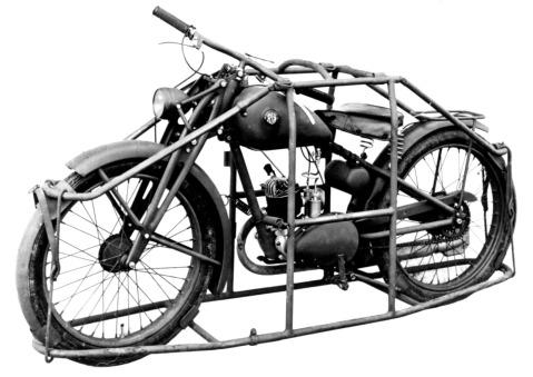 royal Enfield WD RE motorbike flying flea parachute bike 2
