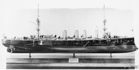 Ship model HMS Terrible by Oldham Hugh, via IWM