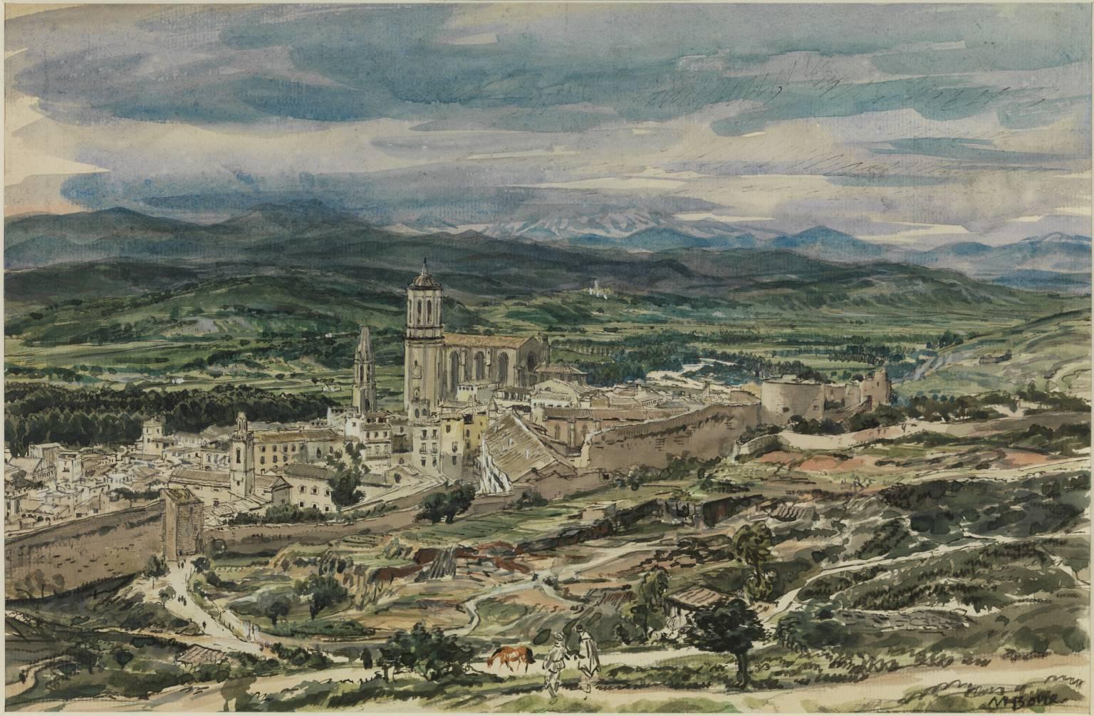 The Mountain Background, Gerona ?1926 Sir Muirhead Bone 1876-1953 Purchased 1930 http://www.tate.org.uk/art/work/N04558