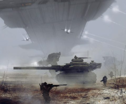 Spacefight, showing a very Merkava-like MBT