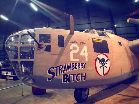 strawberry bitch B-24 that goes by that name at the Dayton, Ohio Air Force museum