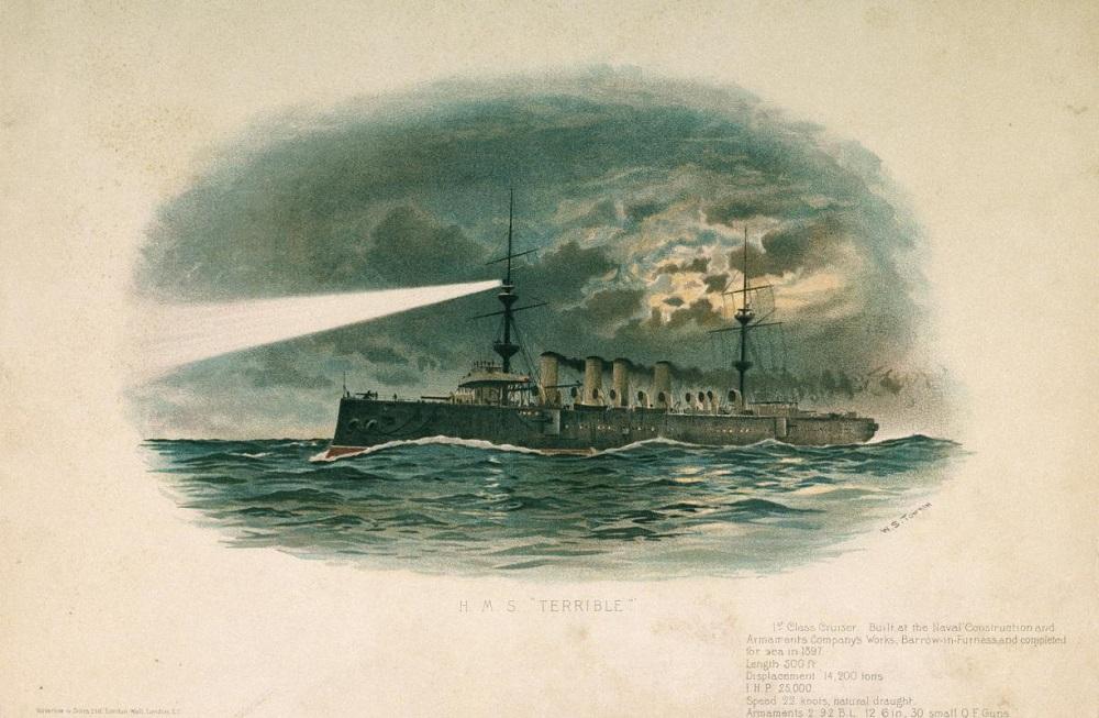 HMS Terrible portrait via Royal Grenwich Museum