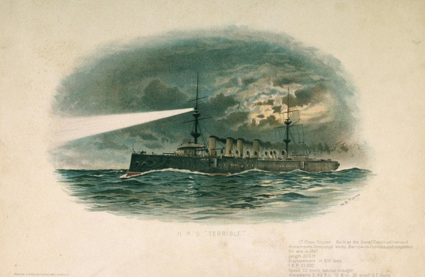 HMS Terrible portrait via Royal Grenwich Museum