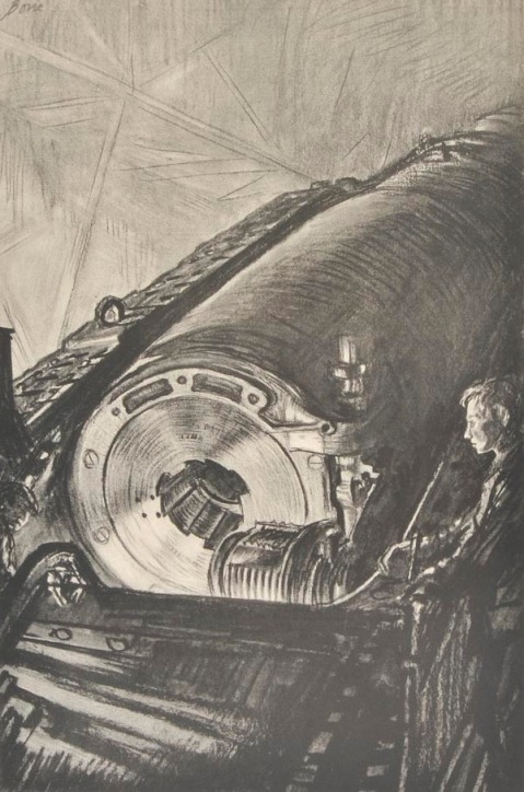 Nightwork on the Great Gun 1917