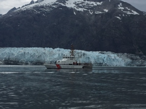Crewmembers aboard U.S. Coast Guard Cutter Terrapin patrol the water while on a 37-day deployment in Southeast Alaska, July 10, 2016. The crew completed the first ever deployment of an 87-foot Coastal Patrol Boat to Alaska before returning home to Bellingham, Wash., on July 22, 2016. (U.S. Coast Guard photo courtesy of Coast Guard Cutter Terrapin.)