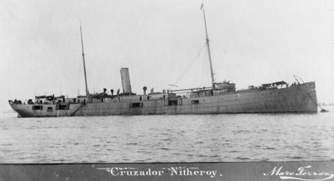 Cruzador Nitheroy [sic] [i.e. Nictheroy] by Marc Ferrez, Detroit Publishing Co. Image via LOC LC-D4-21236