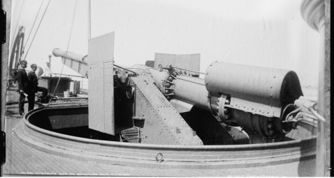 Dynamite gun on Brazilian ship, Nitheroy [i.e. Nictheroy] by Marc Ferrez, Detroit Publishing Co. Image via LOC LC-D4-32259