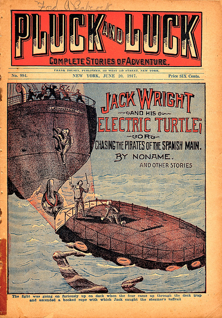 Jack Wright and his Electric Turtle Dime Novel Pulp Magazine
