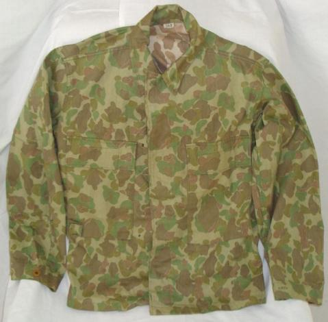 Jacket, Herringbone Twill, Camouflage, via U.S. Military Forum http://www.usmilitariaforum.com/forums/index.php?/topic/179880-the-abcs-of-collecting-wwii-army-issued-hbt-clothing/