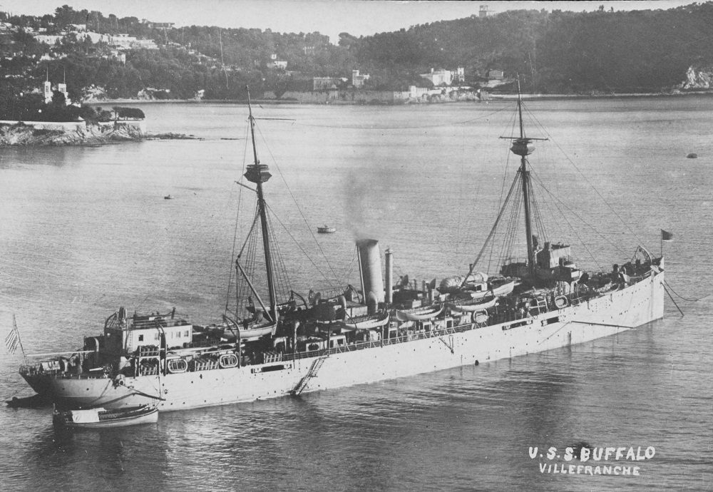 At Villefranche on the French Mediterranean coast in late 1918 or early 1919. Donation of Captain Stephen S. Roberts, USNR (Retired), 2008. U.S. Naval History and Heritage Command Photograph. Catalog #: NH 105907