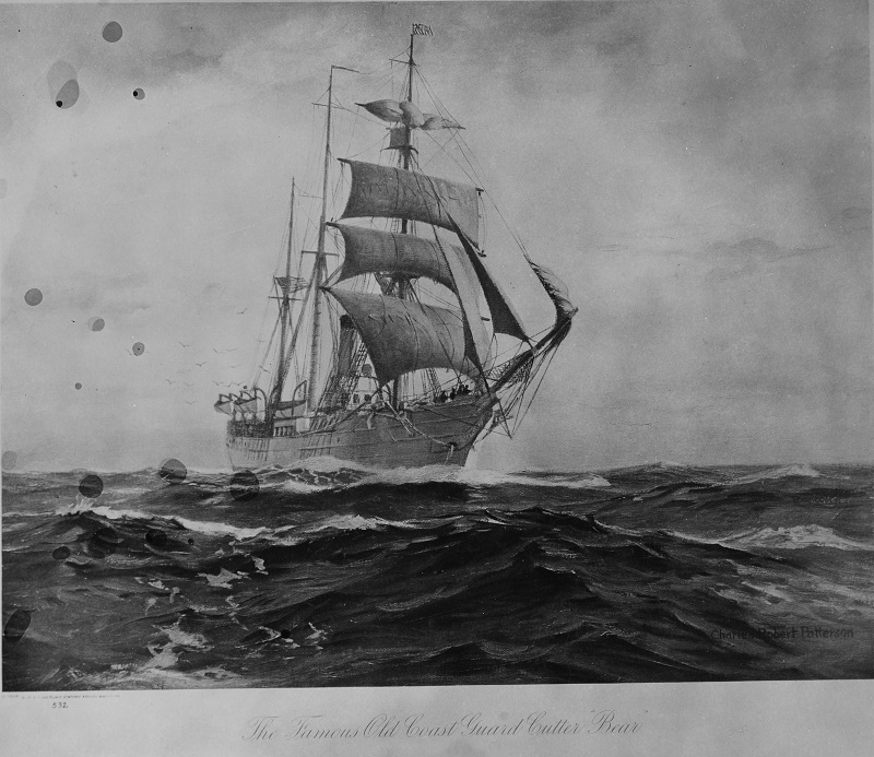 The famous old Coast Guard cutter BEAR. From the Collection of President Franklin D. Roosevelt Catalog #: NH 1918 Copyright Owner: Naval History and Heritage Command Original Creator: Charles Robert Patterson, artist