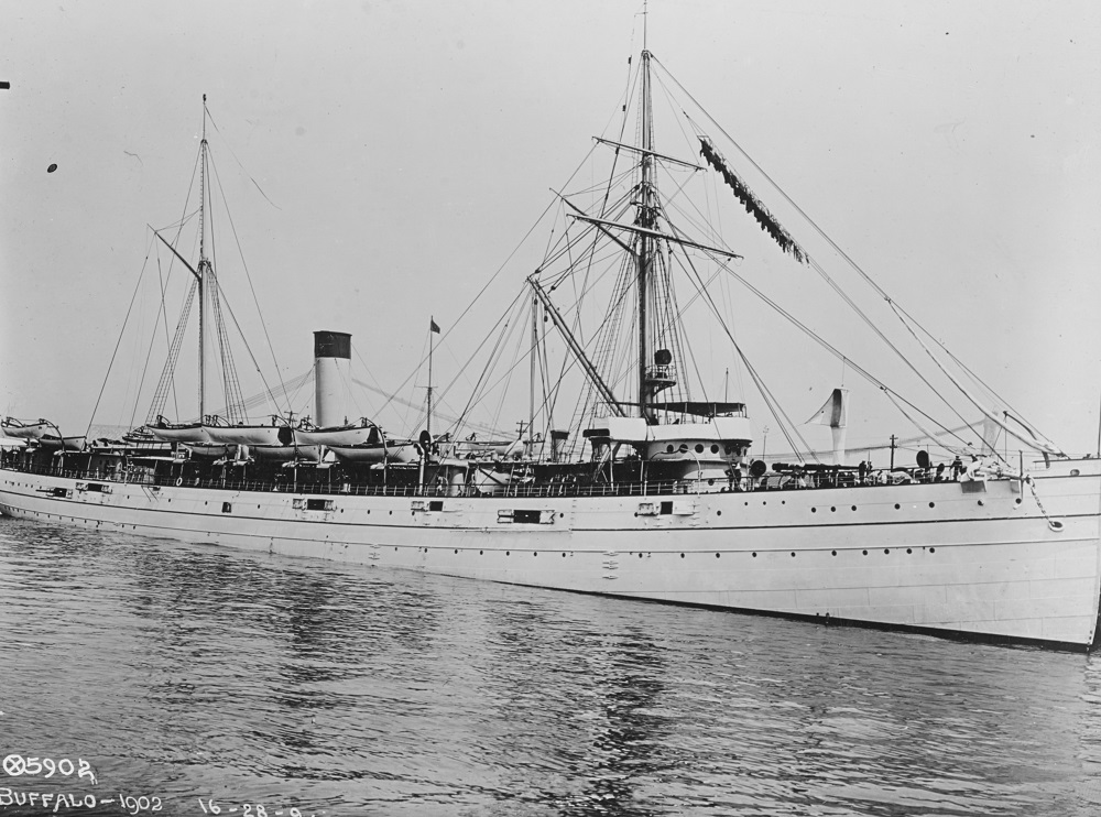 She does look handsome in white! Photographed in 1902, while serving as a training ship. U.S. Naval History and Heritage Command Photograph. Catalog #: NH 56644