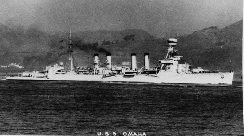 USS OMAHA (CL-4). Description: Courtesy of Mr. Donald M. McPherson, 169 Birch Avenue, Corte Madera, California, 1969 Catalog #: NH 68319