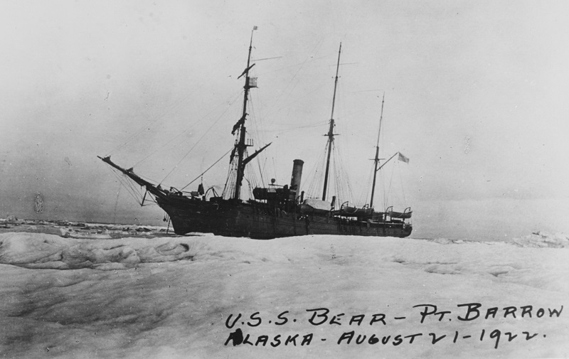 USCGC BEAR At Point Barrow, Alaska, 21 August 1922. Catalog #: NH 91762 Copyright Owner: Naval History and Heritage Command