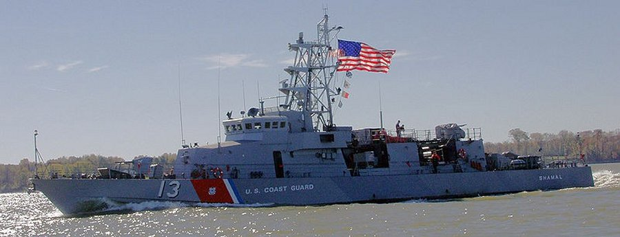 USCGC Shamal (WPC-13) as she appeared in 2006 when operating from NAVSTA Pascagoula. Dat racing stripe, doe
