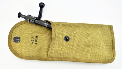 Springfield Armory 1903 MK I .30-06 SPRG (R18854) caliber rifle. Springfield 1903 with Pedersen device 1919 RIA marked bolt pouch
