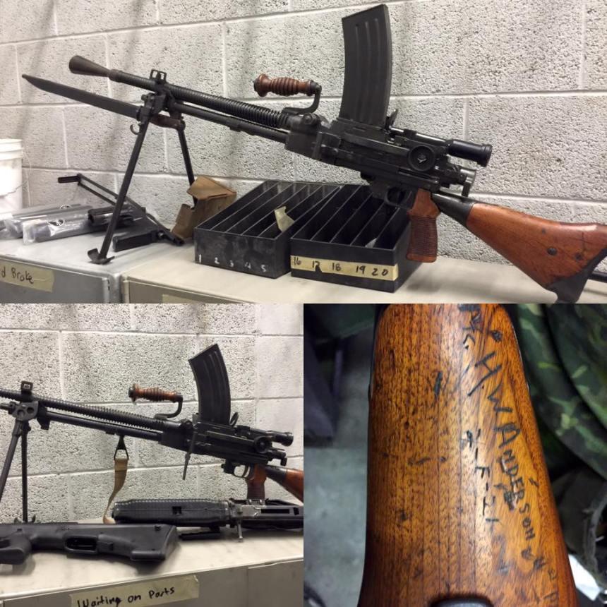 type 11 japanese machine gun captured marine