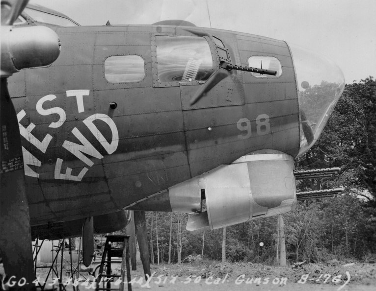 West End, tail number 42-31435 SU-S experimental six gun m2 turret