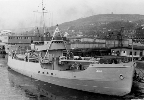 Citrus preparing to leave Duluth Aug 15 1942. Note her haze gray appearance as she was a war baby