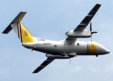 That's a Dash 8, not in USCG livery