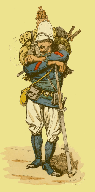 French marine infantryman in Tonkin, 1883