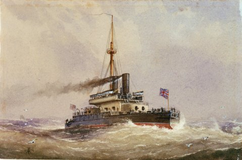 HMS Devastation by William Fredrick Mitchell