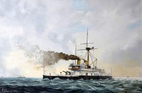 Bumford, Frederick W.; HMS 'Thunderer' Devastation Class, 1877; Britannia Royal Naval College; http://www.artuk.org/artworks/hms-thunderer-devastation-class-1877-94679