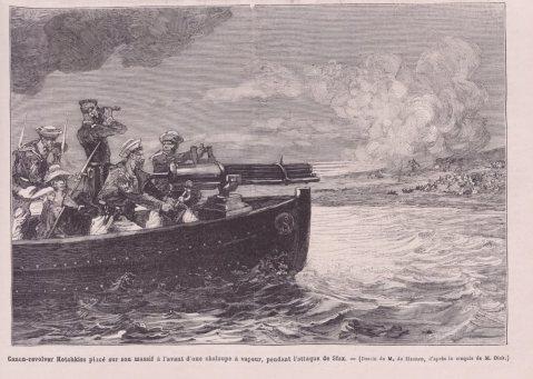 Le Monde illustré 1881 hotchkiss cannon revolver