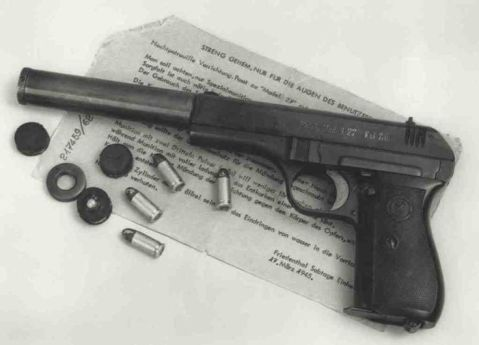 Scarce Late World War II Nazi Occupation Czechoslovakian Model 27 Pistol with Silencer Barrel