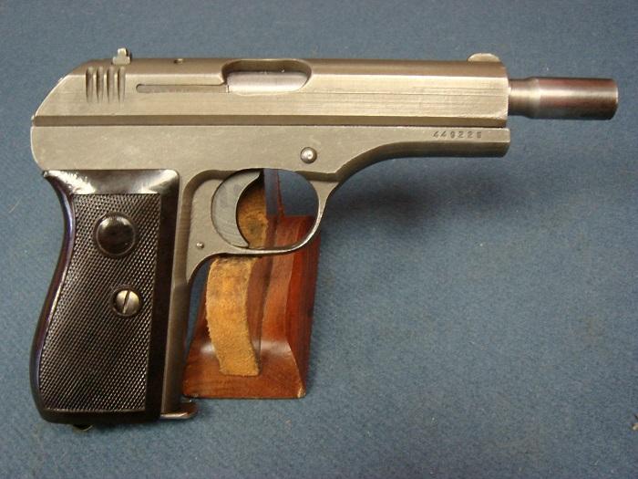 Scarce Late World War II Nazi Occupation Czechoslovakian Model 27 Pistol