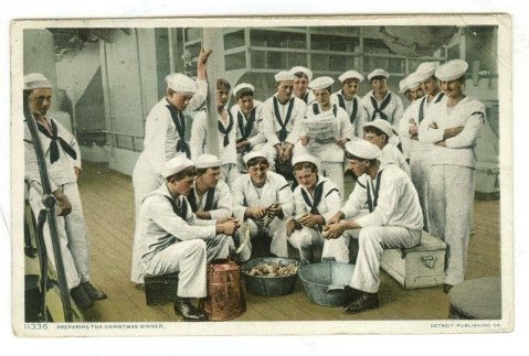 "USS Brooklyn, ""Preparing Christmas dinner"""
