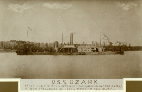 USS Ozark Photographed on the Western Rivers in 1864-65. U.S. Naval History and Heritage Command Photograph.